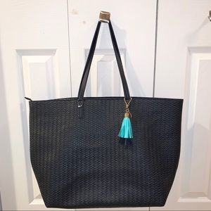 Bath & Body Works woven faux leather tote